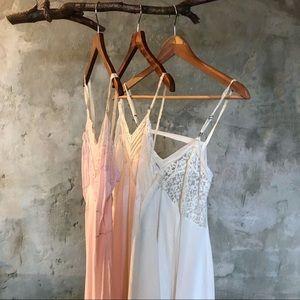 Cream and pink vintage lingerie slip bundle